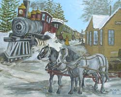 Train Depot painting | Pine River MN